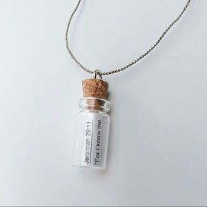 Custom Verse Bottle Necklace